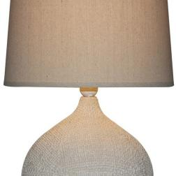 Woven lamp + Linen Shade image