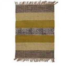Chartreuse/Charcoal stripe rug image