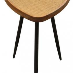 Rattan triangle Side table image