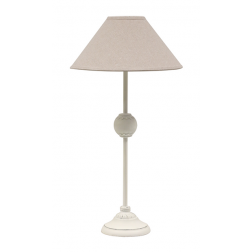 White Table Lamp with Ball image