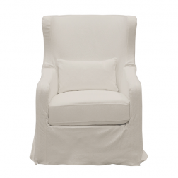 Cape Cod Chair in White with Swivel Base image