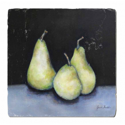 Set of 3 Midnight Pears Trivet image