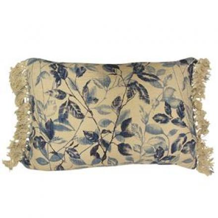 Indigo Leaf Cushion image