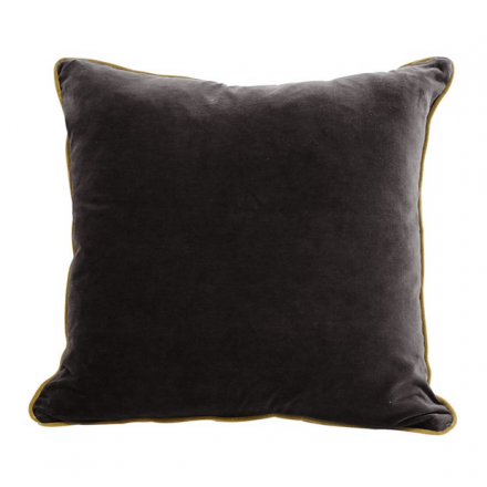 Black & Gold Velvet Cushion image