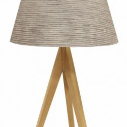 Natural Wooden Tripod Lamp image