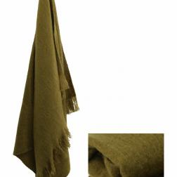 Olive Green throw image