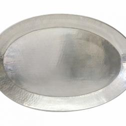 Silver Oval Antiqued Tray image