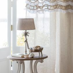 Souffle Natural Ruffle curtain image