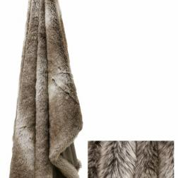 Grey mink Faux fFur Throw image
