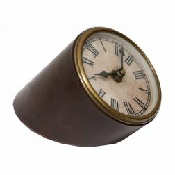 Slanted Clock Leather & Brass image