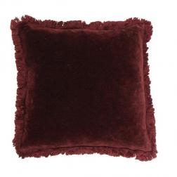 Boudoir Plum Fringed Cushion image