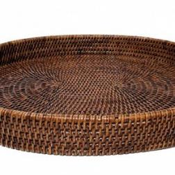 Oval rattan tray image