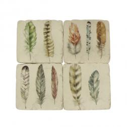 Feather Coasters image