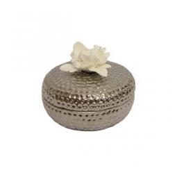 Silver Flower Trinket Box image