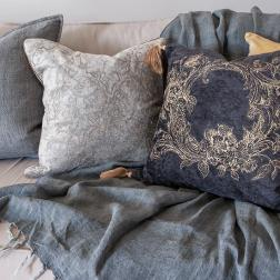 Yvette Cushion with feather Inner image