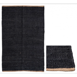 Black & Natural Jute rug image