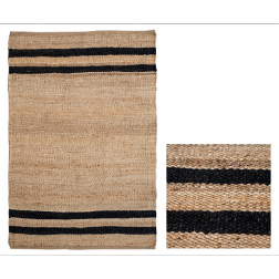 Natural Black Stripe Rug image