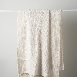 Moss Stitch Cotton Throw image