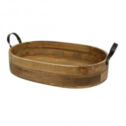 Ploughmans Oval Serving Tray Iron Handles image