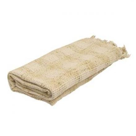 Berit Natural & White Chequered Throw image