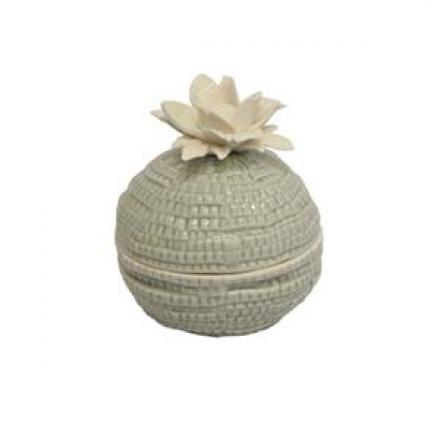 Grey Flower Trinket Box image