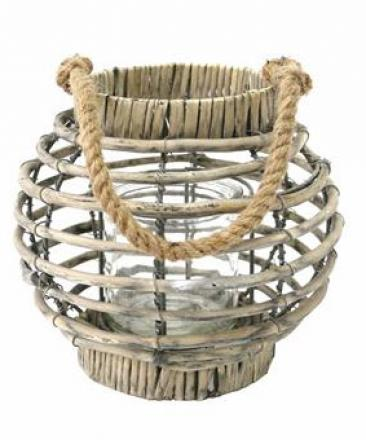 Round Willow Lantern image