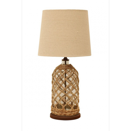 Glass Lamp with Jute String image
