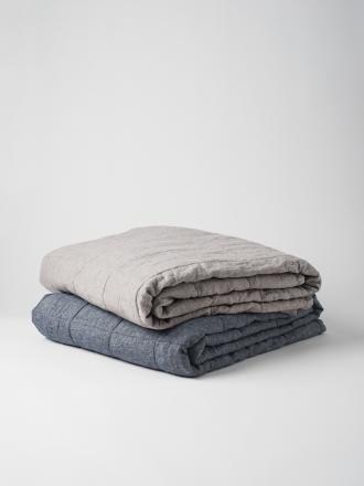 Sove Chambray Linen Quilted Blanket image