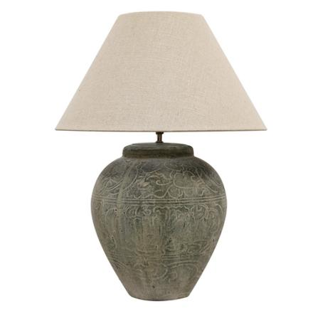 Tuscan Stone lamp with Shade image